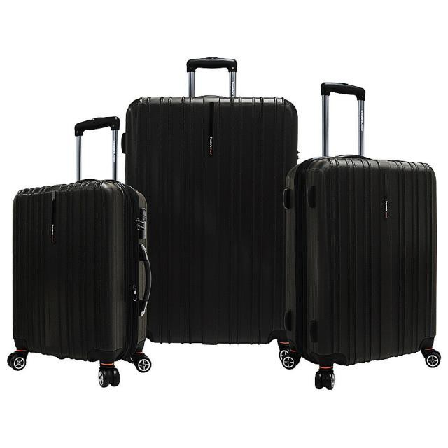 品揃え豊富で Travelers Travelers Choice トラベラーズ チョイス 旅行用品 キャリーバッグ Expandable Travelers Choice Tasmania Luggage 3-Piece Expandable Hardside Luggage Set, DRAGON'S WAY:87c4c446 --- nak-bezirk-wiesbaden.de