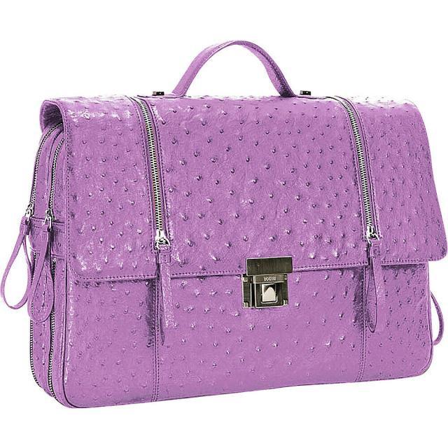 【逸品】 旅行用品 キャリーバッグ BODHI Ostrich Briefcase - Purple Purple Sky Sky - Non-Wheeled Business Case NEW, ミワマチ:34e4589b --- 1gc.de