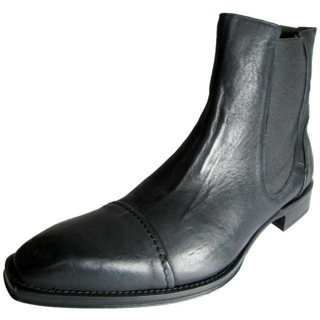 【人気No.1】 Shoe シューズ ブーツ Signature Donald Signature J. US Pliner Men Cerdic-E6 Boot Leather Ankle Boot Shoe Black US 8, ブランノワール:dcdcdb0f --- 1gc.de
