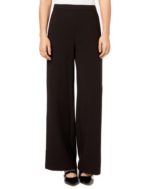 kensie ケンジー ファッション パンツ Kensie Black Womens Size Large L Double Side Stripe Wide Leg Pants