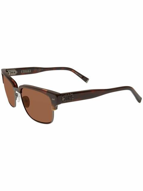 【ついに再販開始!】 John Varvatos ジョンバルバトス ファッション サングラス John Varvatos V516BRO56 Mirrored Square Sunglasses Brown, 新作商品 aa9e2b20