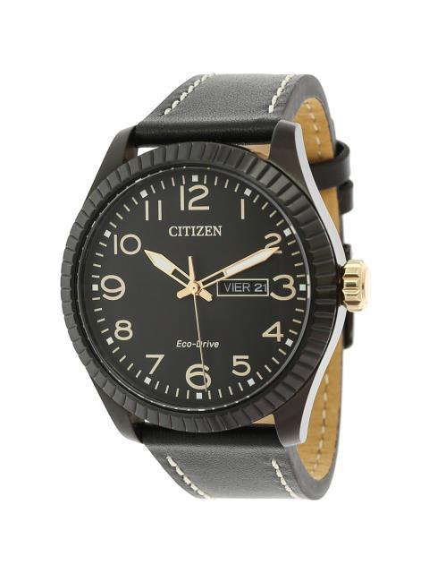 2019年最新海外 citizen シチズン ファッション 時計 BM8538-10E Citizen citizen Mens Eco-Drive BM8538-10E Black Eco-Drive Leather Fashion Watch, めん工房 辻麺業:17a03582 --- oeko-landbau-beratung.de