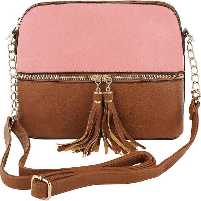 MIA ミア ファッション バッグ MKF Collection by Mia K. Farrow Alejandra Duo-Color Cross-Body Bag NEW