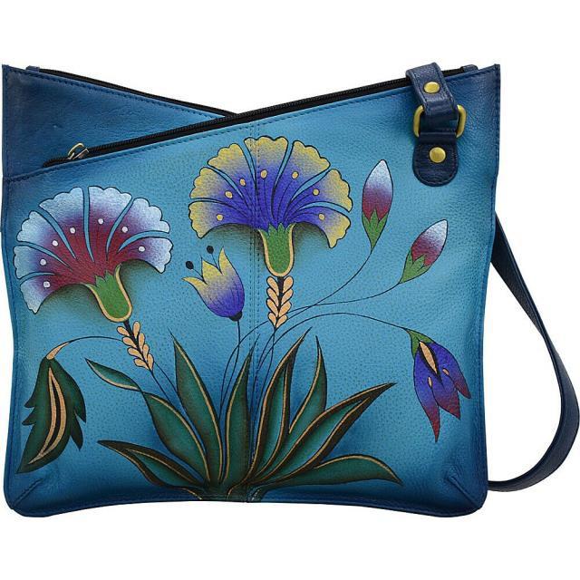 【 開梱 設置?無料 】 ANNA by Bag Anuschka ファッション ファッション バッグ V ANNA by Anuschka Hand Painted V Top Multi-Compartment Cross-Body Bag NEW, 坂北村:9398ab37 --- chevron9.de