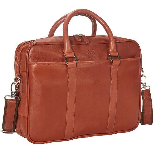 【完売】  Mancini Leather Goods Colombian Leather 旅行用品 キャリーバッグ Mancini Double Leather Goods Colombian Double Compartment Non-Wheeled Business Case NEW, 高清水町:19a47a3f --- kzdic.de