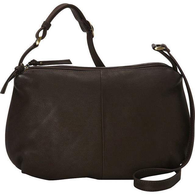 正規代理店 Derek Alexander ファッション バッグ Derek Alexander EW Soft Pouch Top Zip - Brown Cross-Body Bag NEW, ムロネムラ 493f7fc1