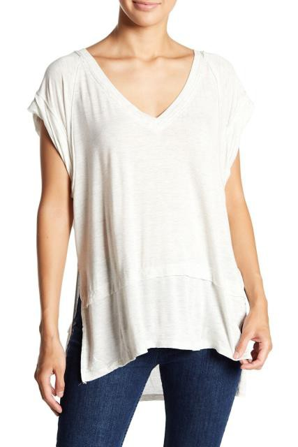Free People フリーピープル ファッション トップス Free People Womens Gray Size XS V-Neck Heather Side Splits Knit Top