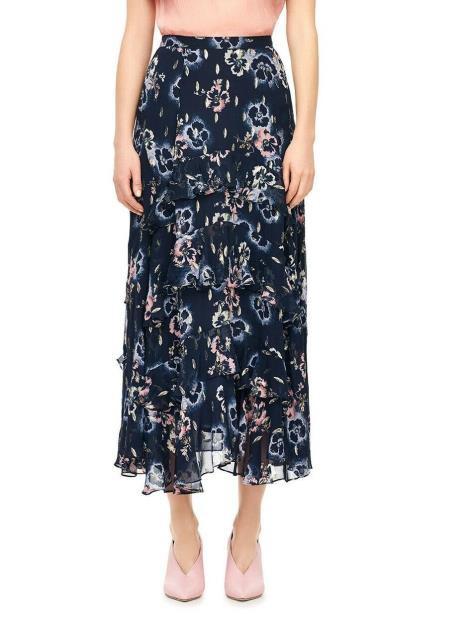 新着商品 Rebecca Taylor Tiered レベッカテイラー ファッション スカート S Rebecca Taylor NEW Blue Size Womens Size Small S Floral Print Tiered Skirt, クリーム大福のお店【伊豆みかど】:1aea9bc4 --- buergerverein-machern-mitte.de