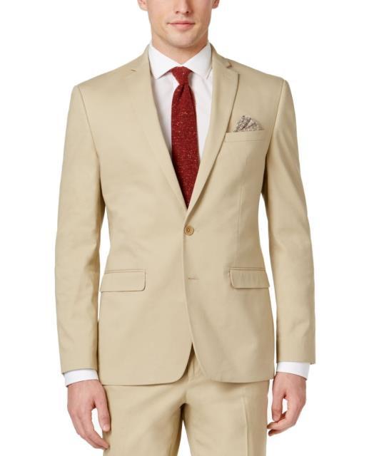 【高額売筋】 NEW Size Short ブレザー Bar Button Blazer Fit III フォーマル ファッション Slim 36 Two Mens Blazer Beige-その他アクセサリー・ジュエリー