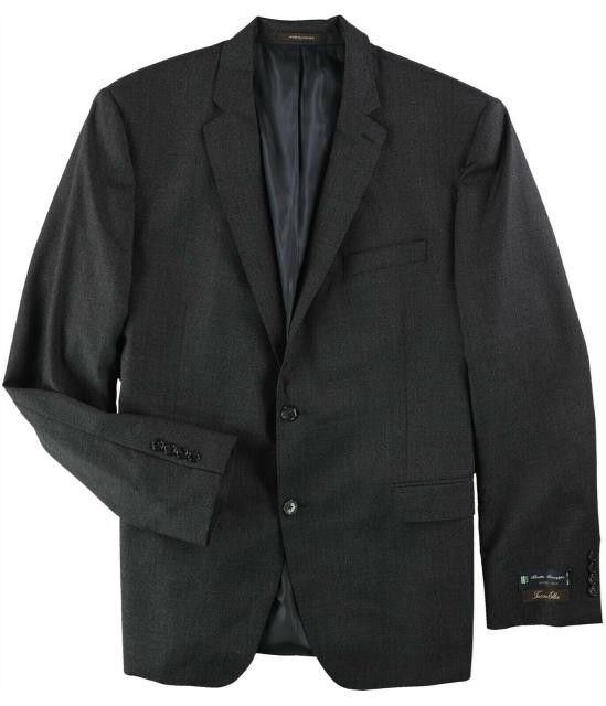 【即発送可能】 Regular Black Two Suit Button Charcoal 48 フォーマル Size ファッション Elba Wool Mens Tasso-その他アクセサリー・ジュエリー