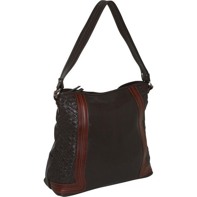 若者の大愛商品 Derek Alexander Alexander ファッション Derek バッグ Large Derek Alexander Large Shoulder Bag - Brown/Brandy Leather Handbag NEW, ジョージスター:bda11307 --- kzdic.de