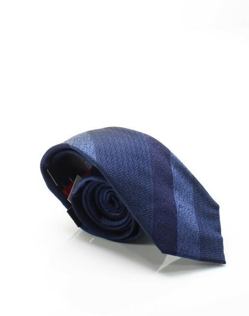 Alfani ファッション 小物 Alfani NEW Navy Blue Mens One Size Freeman Stripe Silk Neck Tie