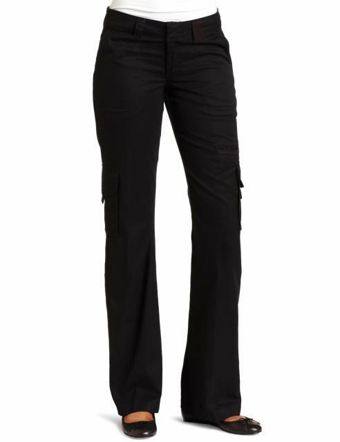 Cargo カーゴ ファッション パンツ Dickies Black Womens Size 14X32 Relaxed Straight Leg Cargo Pants