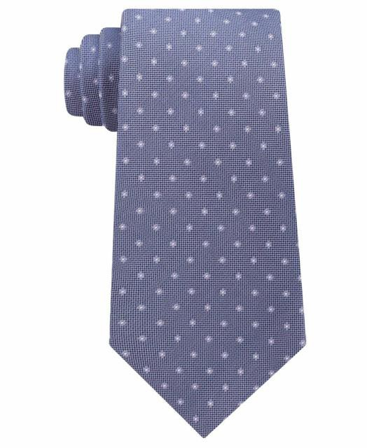 Calvin Klein カルバンクライン ファッション 小物 Calvin Klein Purple Mens One Size Pique Dot Silk Slim Neck Tie