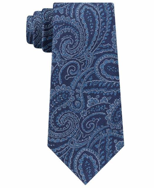 Michael Kors マイケルコルス ファッション 小物 Michael Kors Mens Neck Tie Blue One Size Dancing Pines Pasiley Silk