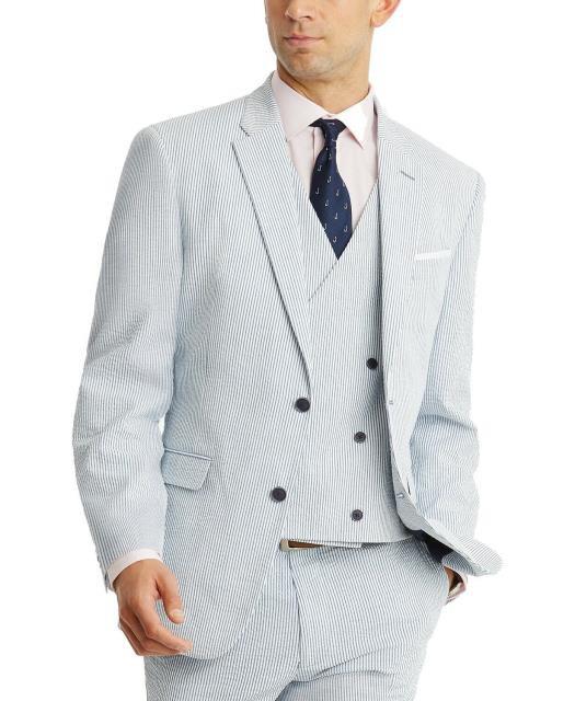 値引きする Blazer ブレザー ファッション フォーマル Tommy フォーマル Hilfiger Hilfiger Mens Blazer Blue ファッション Size 48 Two Button Modern-Fit Striped, 威風堂:e833df22 --- eu-az124.de