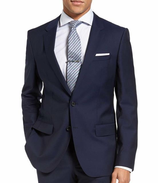 売り切れ必至! Blazer ブレザー ファッション フォーマル Hugo Two Hugo Hugo Boss NEW Blue Blue Mens Size 40 Regular Two Button Wool Blazer, こころ和む贈り物 GIFTea:1f206043 --- chevron9.de