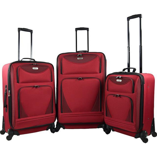 結婚祝い Travelers Club 旅行用品 キャリーバッグ Travelers Club Luggage Sky-View 2.0 3PC EVA Expandable Luggage Set NEW, コサイシ 98048a02