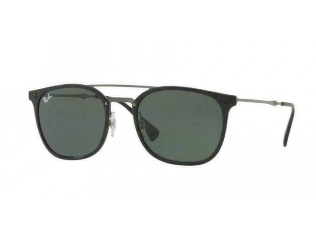 【楽天最安値に挑戦】 ファッション サングラス Ray Ban RB4286 601/71 Semi Square Green Black Fram Sunglasses Lens 55mm, Rankup 87a3ffa3