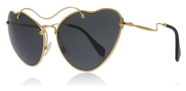 最も優遇の Gold ゴールド ファッション サングラス Miu Miu SMU55R 7OE1A1 65MM Antique Gold / Dark Gray Grad Sunglasses MU 55RS, 国産手作り家具のハンドリー 49e693b1