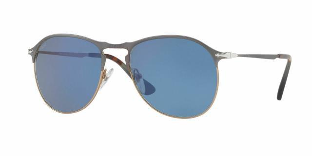 【大特価!!】 Persol ペルソール ファッション サングラス Autentico Persol Gafas de Sol PO7649-S 1071/56 Azul Marron Monturas Lente 56MM, ごまのオニザキ 8b63cee0