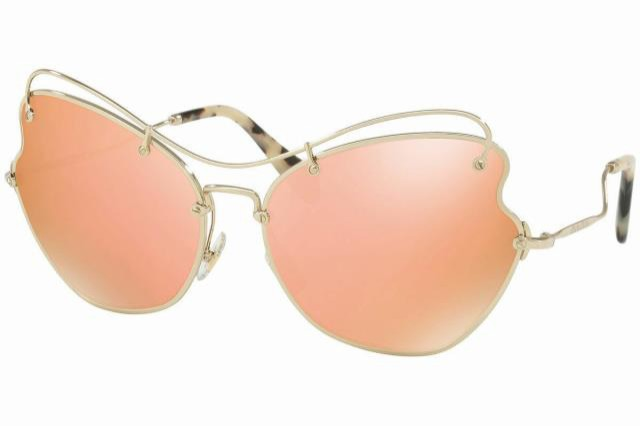 【超お買い得!】 Frame フレーム ファッション サングラス Miu womens sunglasses mu56rs zvn6s0 61 pale gold frame pink mirror lens, tem fb269cb5