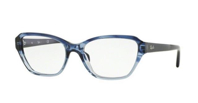 【ふるさと割】 Frame フレーム ファッション 眼鏡フレーム Ray Ban RX5341 5572 55MM Eyeglasses Gradient Striped Blue Optical Frame, ヘナハーブショップ BOH cc82dfc3