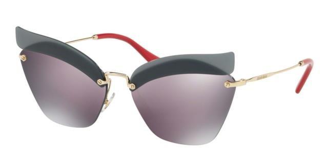 新版 Gold ゴールド ファッション サングラス Brand NEW MIU NEW MIU Brand Sunglasses Pale MU56TS I18147 63 18 147 Pale Gold Red/Purple Womens, アウトレットファニチャー:69ff7365 --- eu-az124.de
