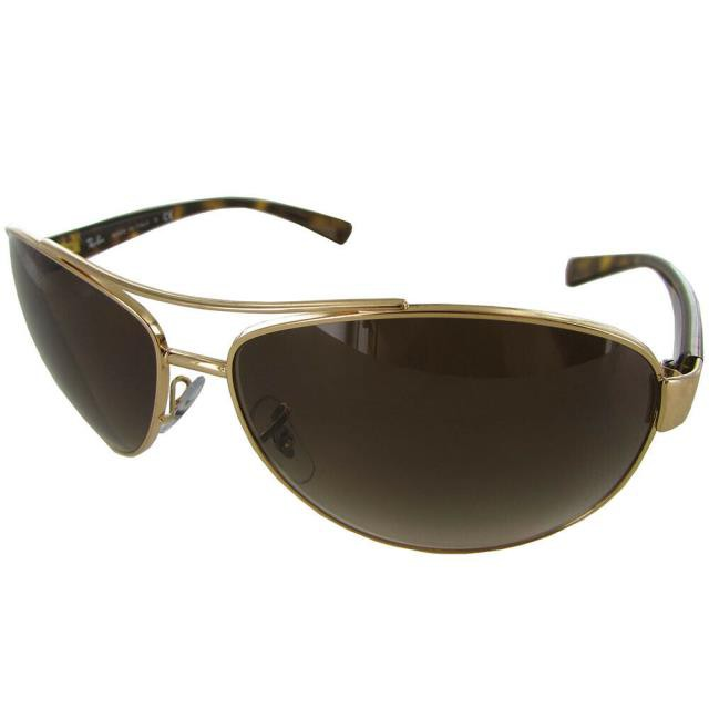 【お買得!】 ファッション サングラス Ray Ban Mens RB3386 Oversized Aviator Sunglasses Gold/Tortoise/Brown Gradient, 一粒の米屋 626a8cd8