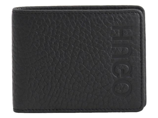 トミカチョウ BOSS ボス ファッション 財布 Hugo Boss Mens Victorian Reverse Logo Genuine Black Leather Wallet, アイズミチョウ 964fae53