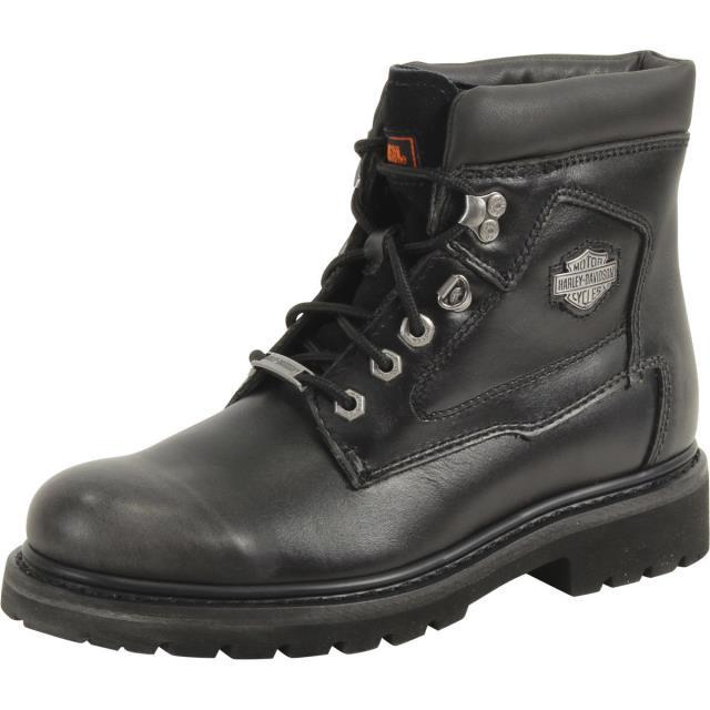 一番の シューズ ブーツ Harley Davidson Mens Bayport Black/Silver Distressed Work Boots Shoes D93427, 池田洋品店 bdabc379