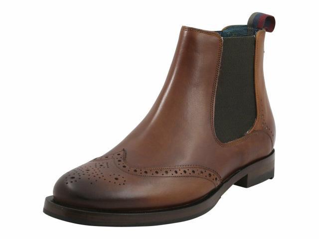 新品本物 BAKER シューズ ブーツ Ted Baker Mens Camheri Tan Brogue Chelsea Boot, SHEBEACH JAPAN c86794e2