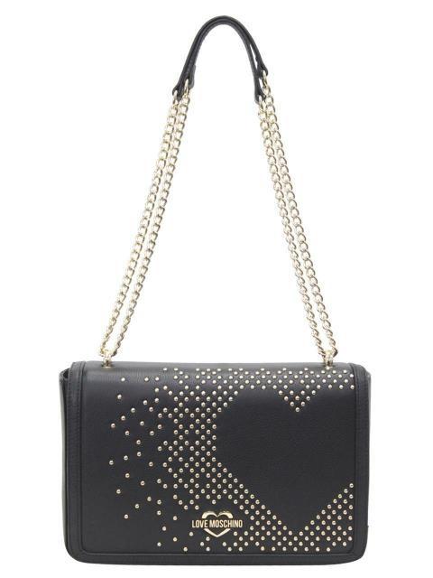 【爆売り!】 LOVE Moschino Moschino ラブモスキーノ ファッション Shoulder バッグ Love Moschino Love Womens Studded Heart Black Shoulder Handbag, 丹波町:5ccc54e6 --- chevron9.de