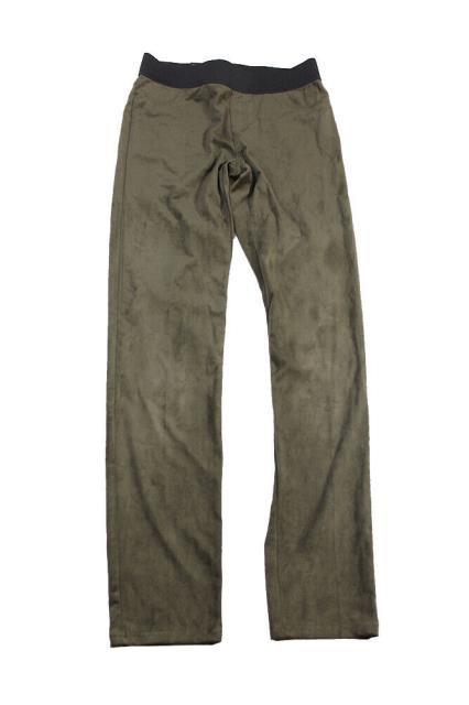 ファッション パンツ Encre International Concepts Vert Fougere Faux-Suede Pantalon Skinny 2