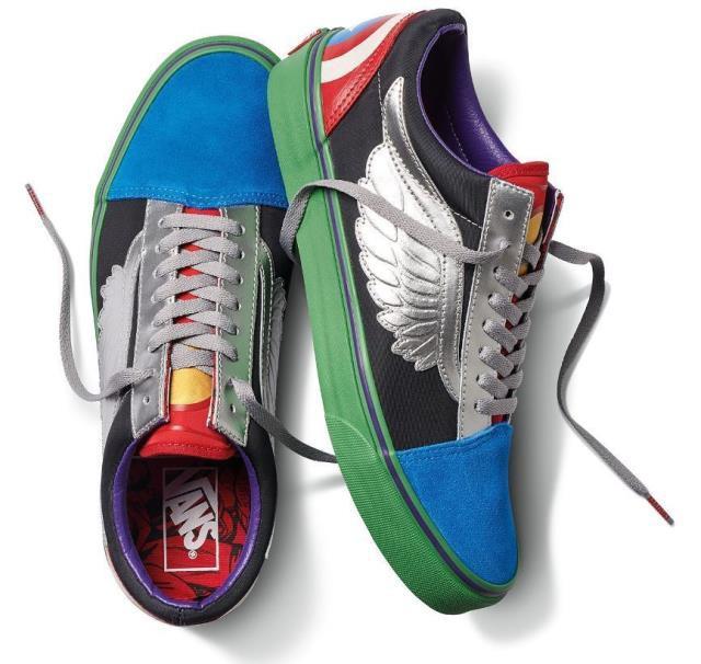 【年中無休】 Vans バンズ スポーツ用品 シューズ Vans Vans Off Multi The スポーツ用品 Wall Unisex X Marvel Old Skool Shoes - Avengers Multi (3.5 - 12), トロフィー優勝カップのベスト徽章:11337180 --- chevron9.de