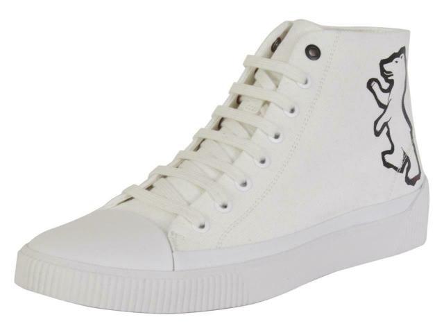 上品な BOSS ボス ファッション シューズ Hugo Boss Mens Zero White High-Top Bear Sneakers Shoes, 名入れボールゴルフギフトゴルゴル bc03ca49