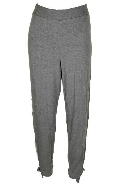HEATHER ファッション パンツ Maison Jules Heather Grey Lace-Trim Jogger Pants XL
