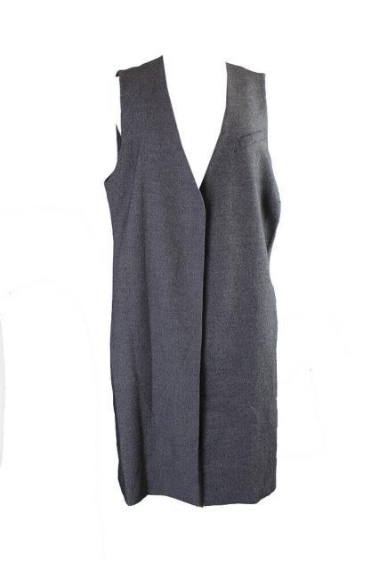 Alfani ファッション 衣類 Alfani Plus Size Marled Black Open-Front Tweed Vest 2X