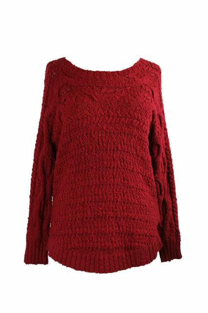 Red ファッション ドレス Inc International Concepts Red Textured Cable-Knit Sweater S
