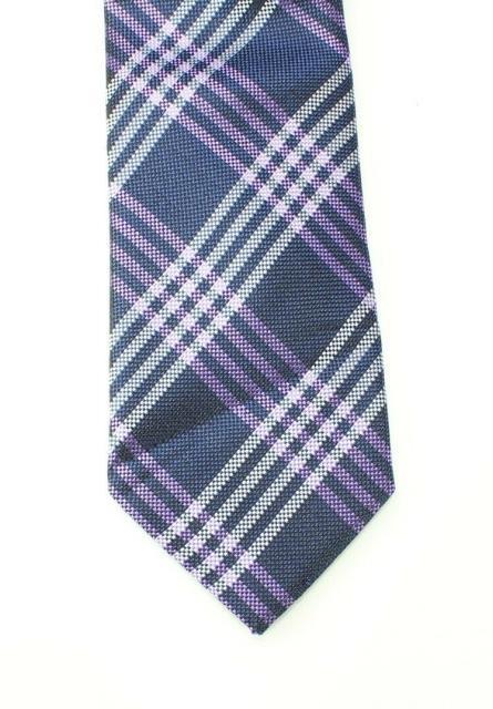Plaid ファッション 小物 Black Brown 1826 NEW Purple Violet Plaid Grid Mens Classic Silk Necktie