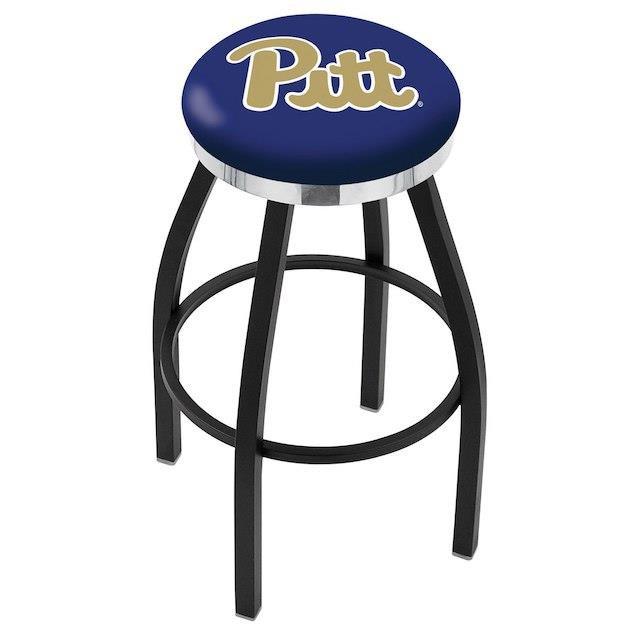 肌触りがいい Holland Bar Stool Co. ホランド バー スツール スポーツ用品 Pitt Panthers 30 Black Wrinkle Swivel Bar Stool with Chrome Accent Ri, ジュウシヤマムラ c94ad1c8