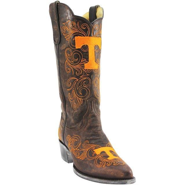 堅実な究極の Game Day Boots ゲーム デイ ブーツ スポーツ用品 Tennessee Volunteers Womens Brown 13 Embroidered Boots, カワベマチ 948baaa5