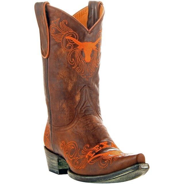 魅力的な価格 Game Day Boots ゲーム デイ ブーツ スポーツ用品 Texas Longhorns Womens Tan 13 Embroidered Boots, 沖縄石垣島のお土産屋 1571681e