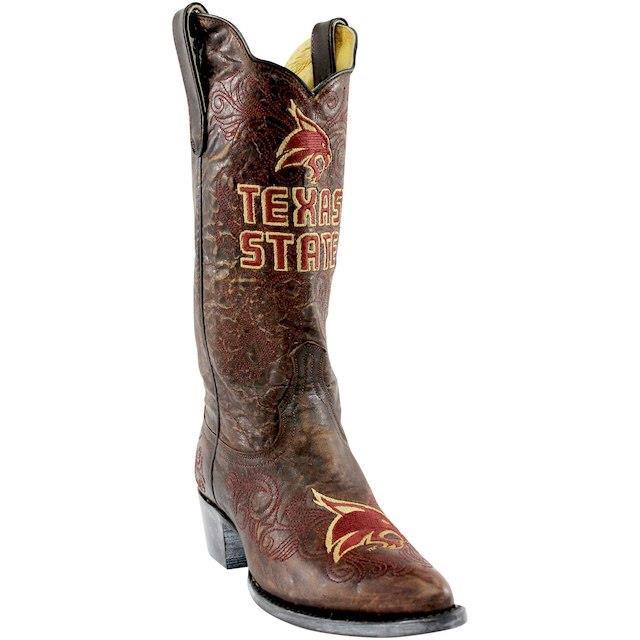 公式サイト Game Day Boots ゲーム デイ ブーツ スポーツ用品 Texas State Bobcats Womens Brown 13 Embroidered Boots, POCKETポケット 3f3ebc52