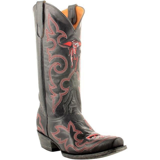 信頼 Game Day Boots ゲーム デイ ブーツ スポーツ用品 Texas Tech Red Raiders Black Masked Rider 13 Original Embroidered Boots, BLAND SELECT SHOP YALAKU-ヤラク- 60d16f0e