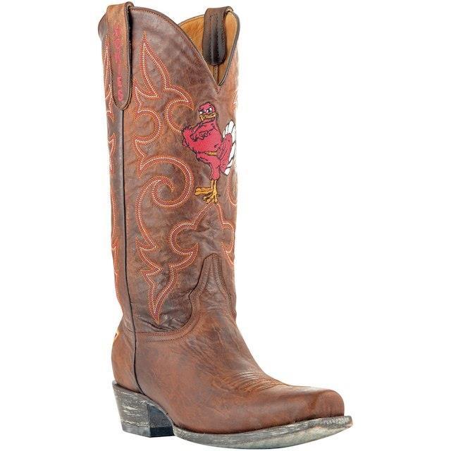 格安新品  Game Day Boots ゲーム デイ ブーツ スポーツ用品 Virginia Tech Hokies Tan 13 Boardroom Embroidered Boots, カグコレマーケット 0398ee45