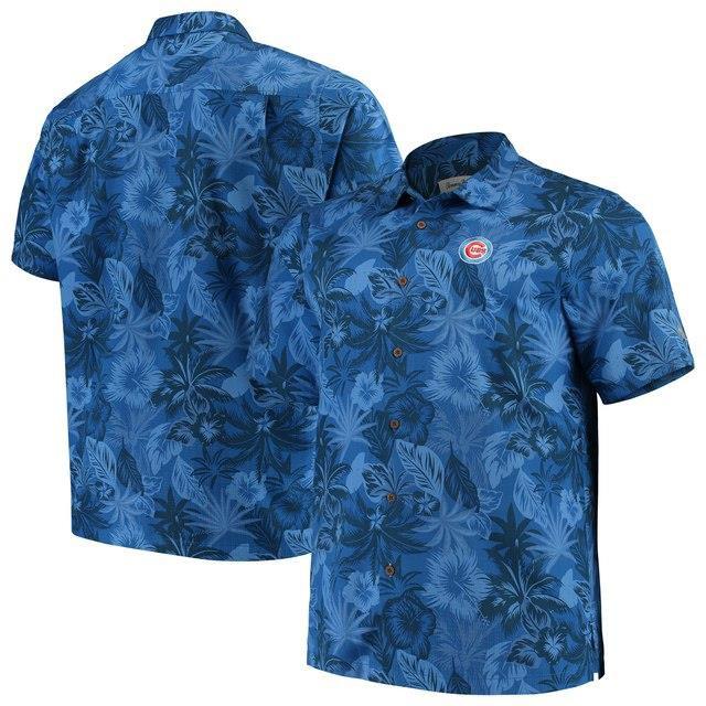 【有名人芸能人】 Tommy Bahama トミー バハマ スポーツ用品 Tommy Bahama Chicago Cubs Royal Big & Tall Fuego Floral Button-Up Shirt, キャメリア(バッグ&ジュエリー) 664386fd