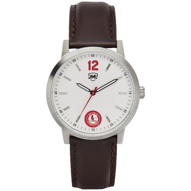 保障できる Jack Mason Brand ジャック メイソン ブランド アクセサリー 時計 St. Louis Cardinals Watch With Brown Leather Strap, 栃木市 bab6f5d7