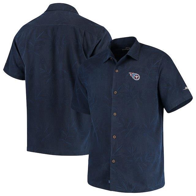 海外最新 Tommy Bahama トミー Core バハマ シャツ ポロシャツ Navy Tommy Bahama Tennessee Titans Titans Navy Luau Floral Core Camp Button-Up Shirt, 酒どころみやび:5906ba67 --- 1gc.de