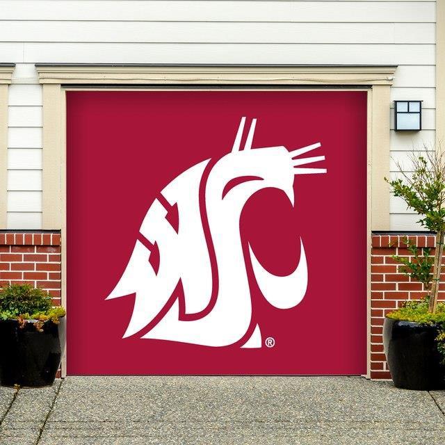 入荷中 Victory Corps. ビクトリー コープス スポーツ用品 Washington State Cougars Crimson 7 x 8 Single Garage Door Decor, GZONEゴルフ 0050b627